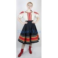 Русский народный танцевальный костюм: платье и повязка