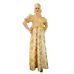 Русский народный костюм: платье и кокошник. Цвет золотой.