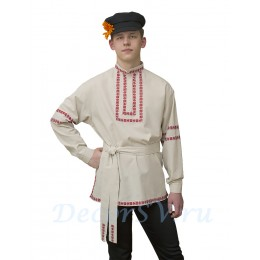 Русская народная рубашка из льна.